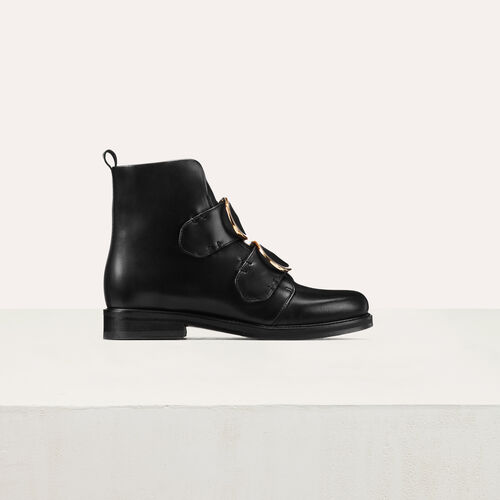 Flat boots : Shoes color Black 210