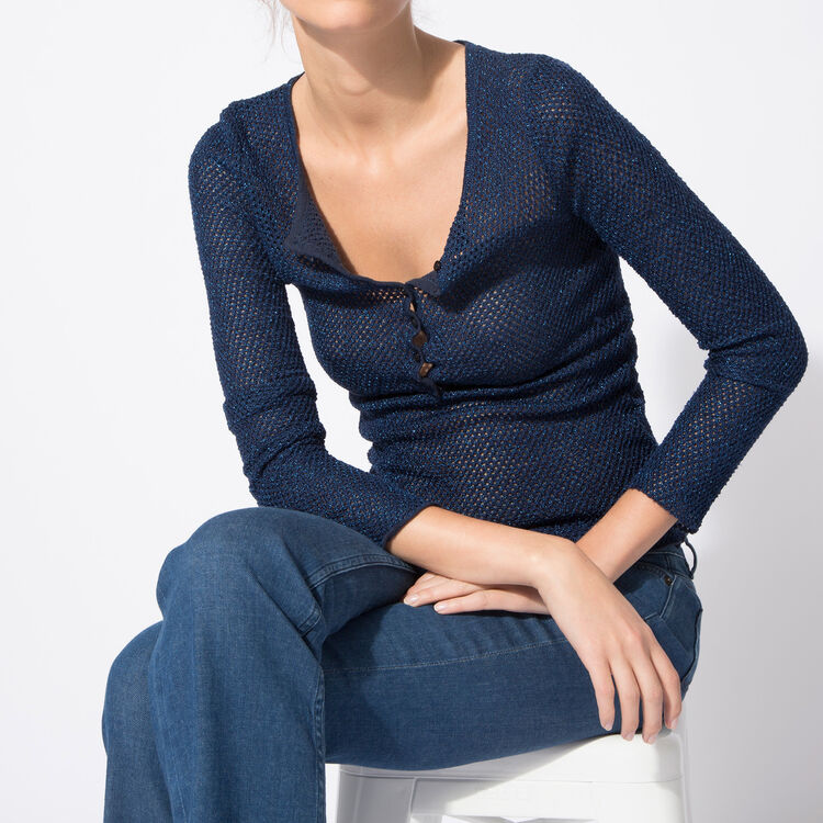 Knitted jumper in cotton and lurex yarn : Spring Summer Precollection color