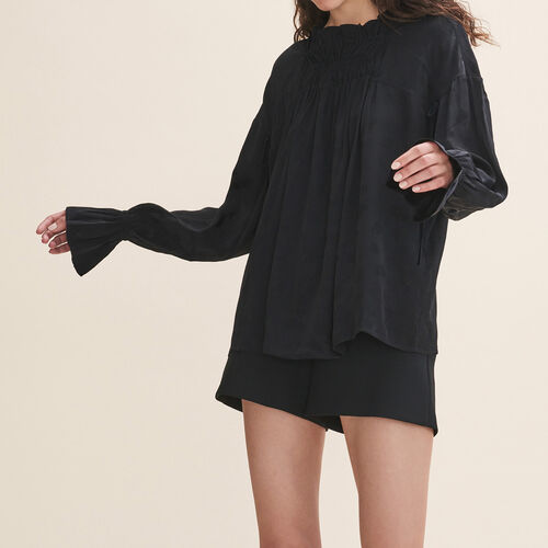Floaty gathered top : Tops & T-Shirts color Black 210