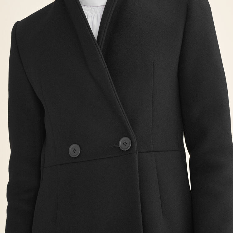 Mid-length wool frock coat : null color