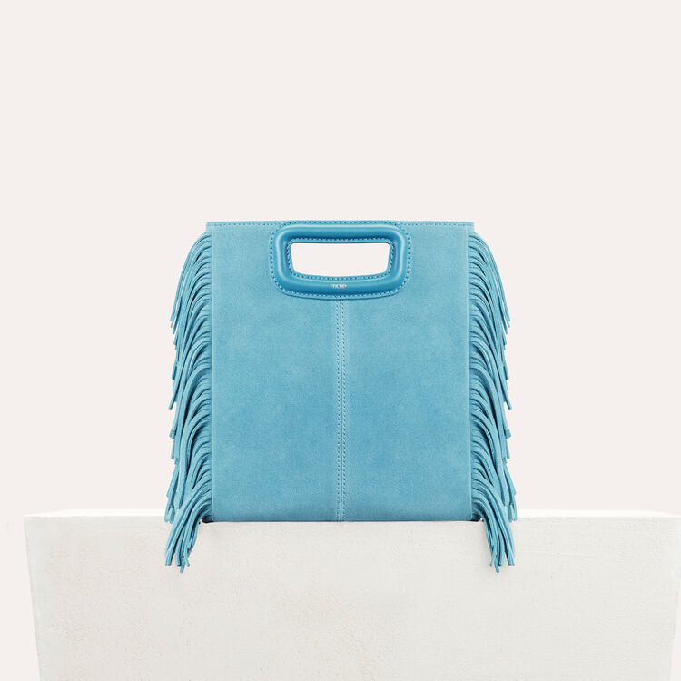 M bag in suede : Bags color Blue