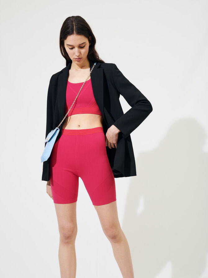 Knit cycling-style shorts - Skirts & Shorts - MAJE