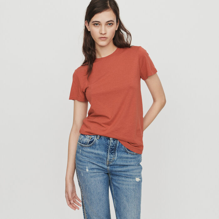 Short sleeve t-shirt : Tops & T-Shirts color Terracota