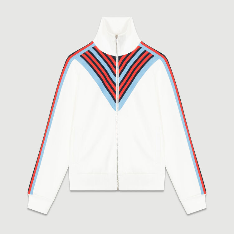 Tracksuit jacket : Coats & Jackets color WHITE