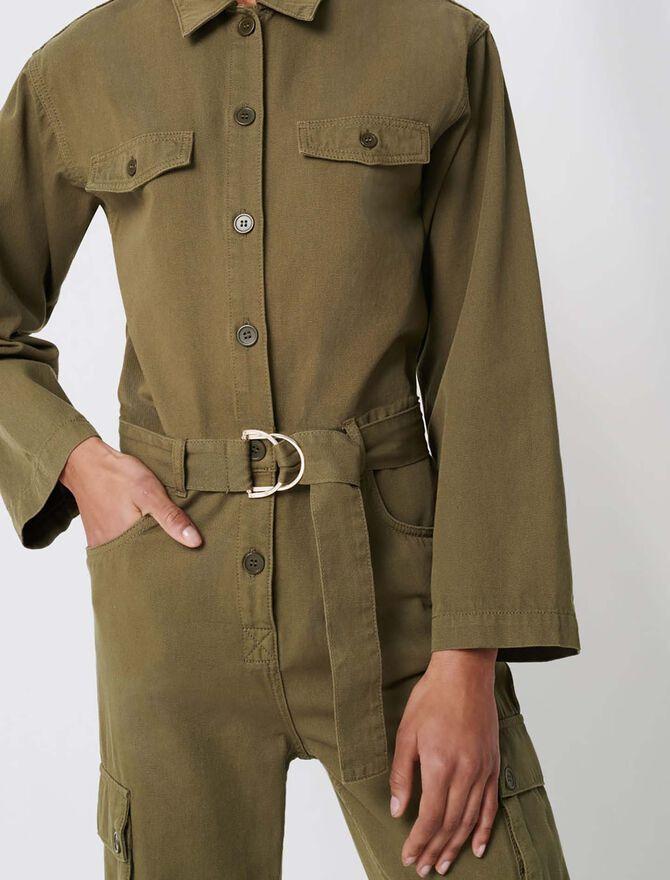 Military-style workwear jumpsuit - Sustainable Selection - MAJE