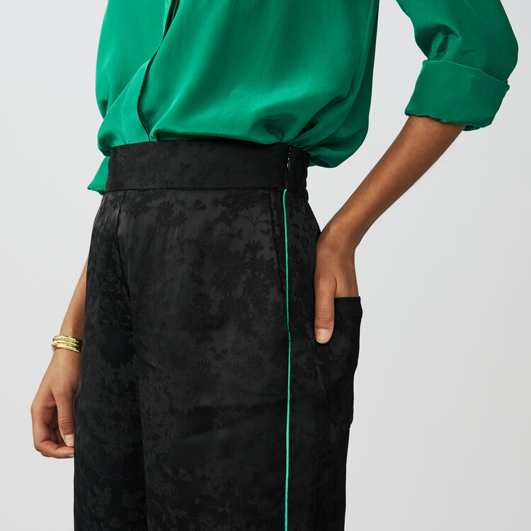 Loose jacquard pants : Workwear color Black 210