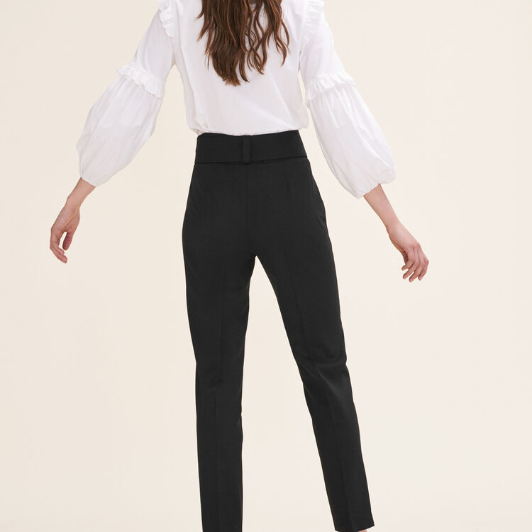 Carrot trousers with bow : Pants & Jeans color Black 210