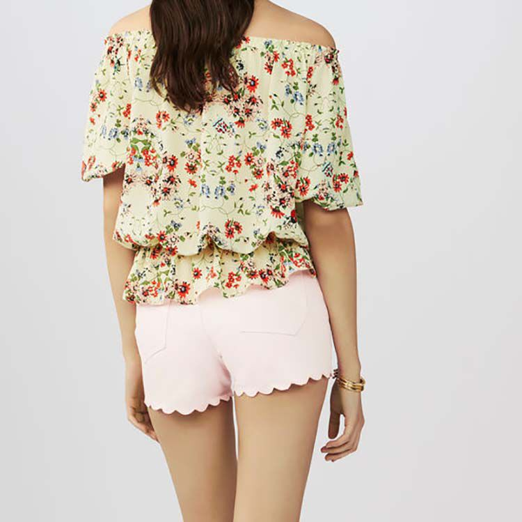 Printed silk top : Tops & T-Shirts color PRINTED