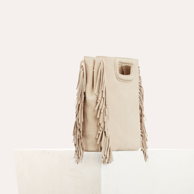 M bag in suede : Bags color Beige