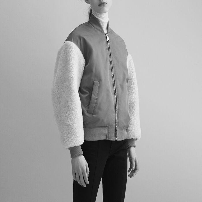 Sheepskin jacket : Coats & Jackets color Caramel