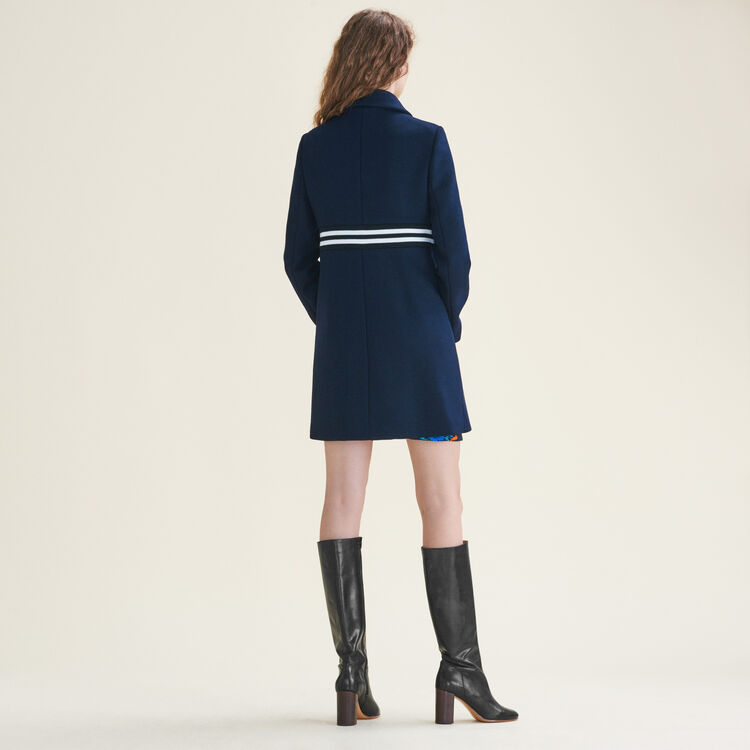 Straight-cut coat in wool and cashmere : null color