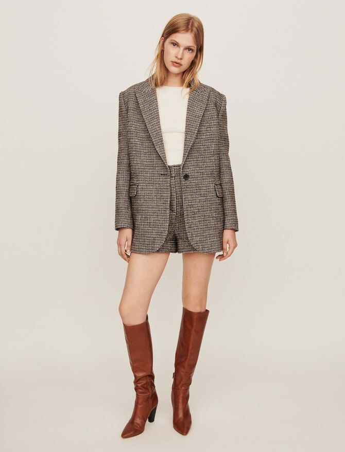 Checkered jacket-style blazer - Coats & Jackets - MAJE