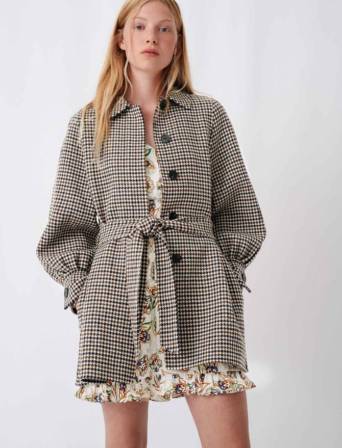 Checked double face coat - The Essentials - MAJE