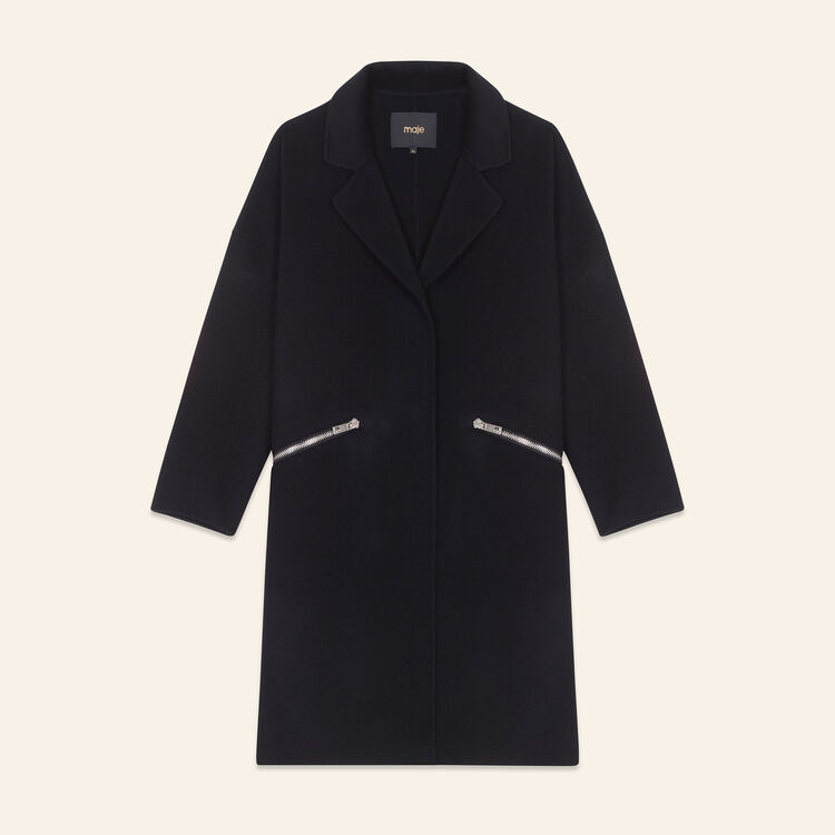 Double-sided wool coat : Coats & Jackets color Black 210