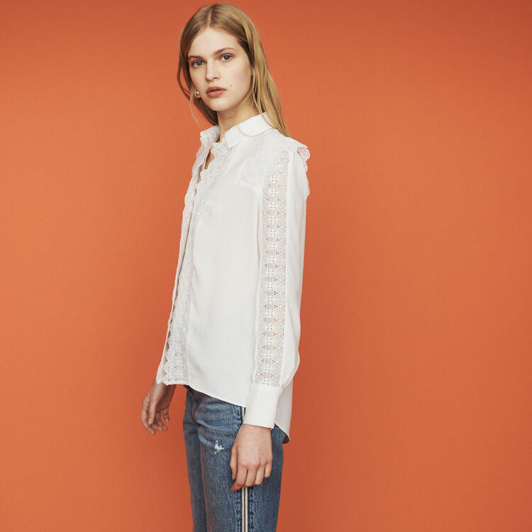 Shirt with lace : Tops & T-Shirts color White
