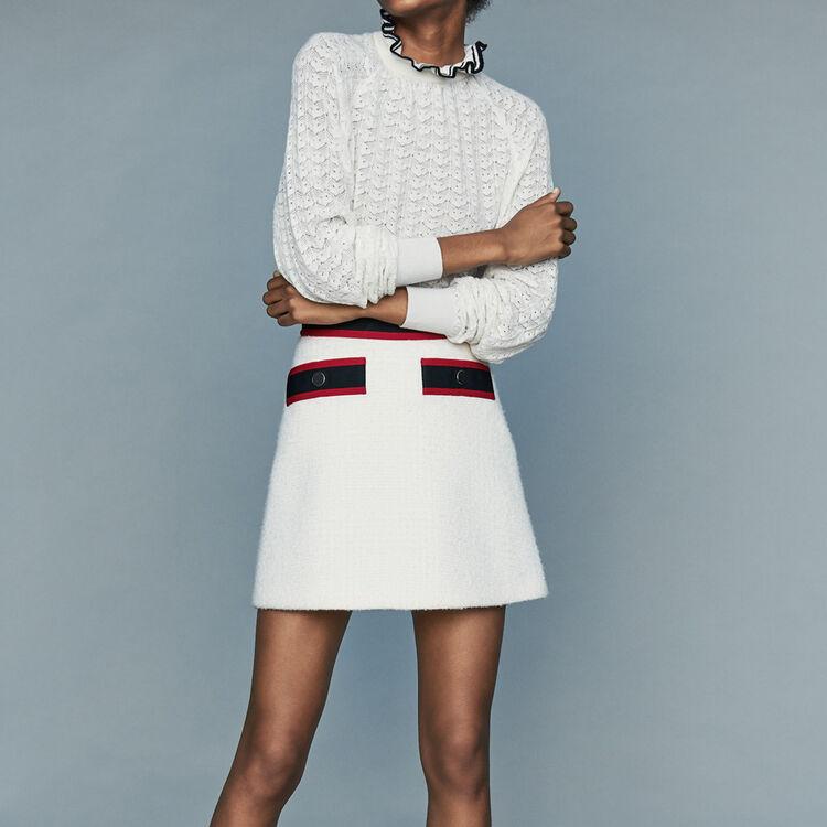 Short tweed skirt : Skirts & Shorts color Ecru