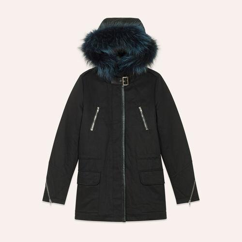 Cotton canvas parka - Coats & Jackets - MAJE