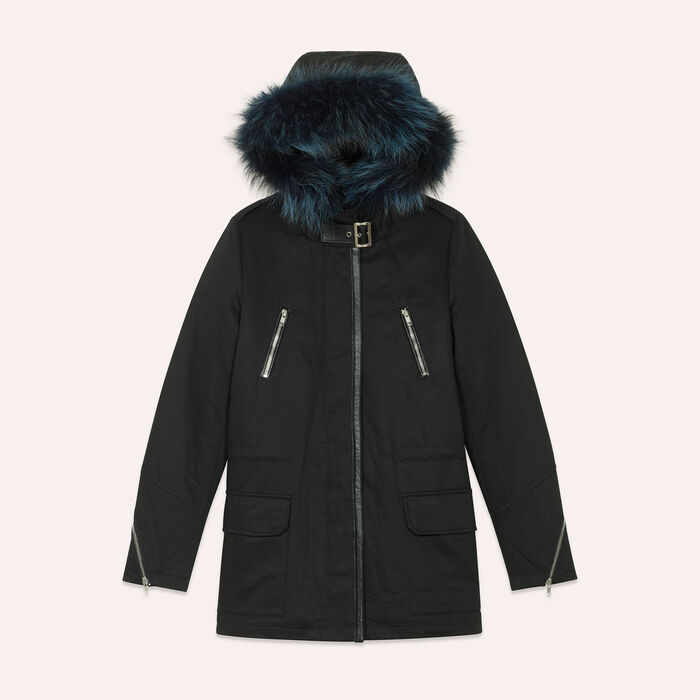 Cotton canvas parka : null color