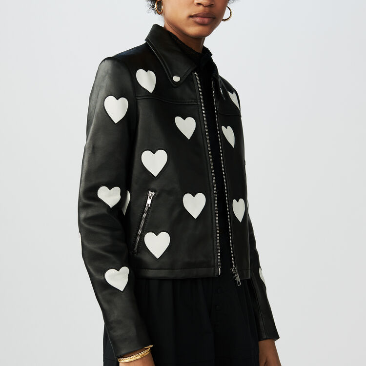 Leather jacket love : Coats & Jackets color Black 210