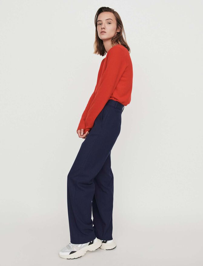 Straight-leg pants with pinstripes - Pants & Jeans - MAJE