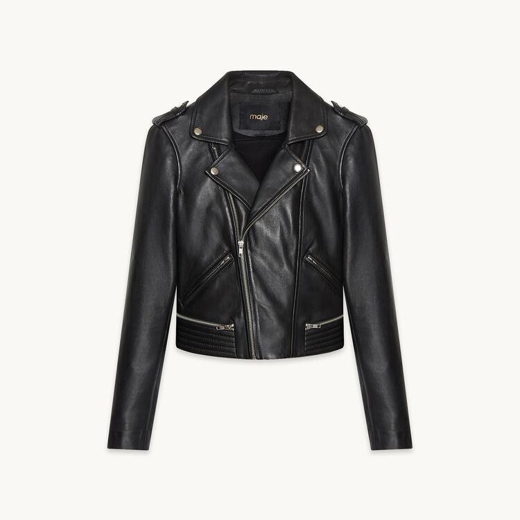 Leather jacket BASALT : Coats & Jackets color