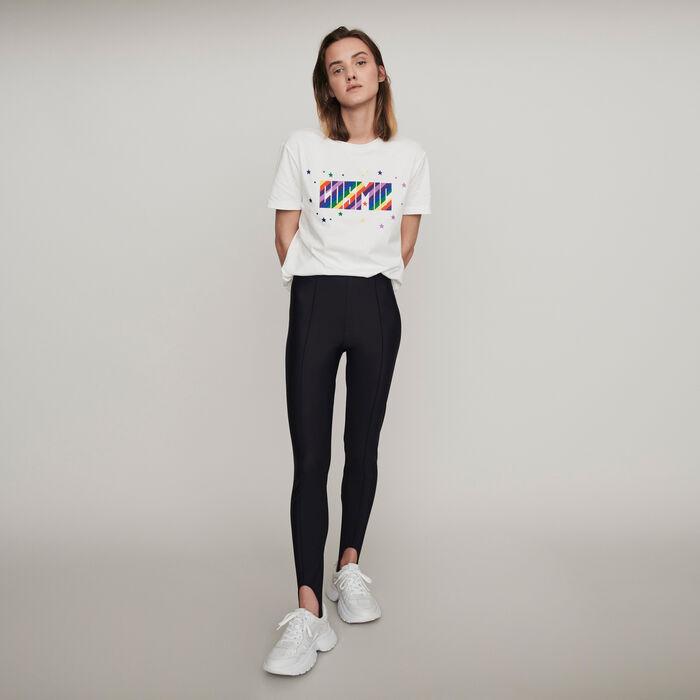 Stretch stirrup pants : Pants & Jeans color Black