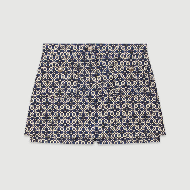 Layered jacquard shorts : Skirts & Shorts color Jacquard