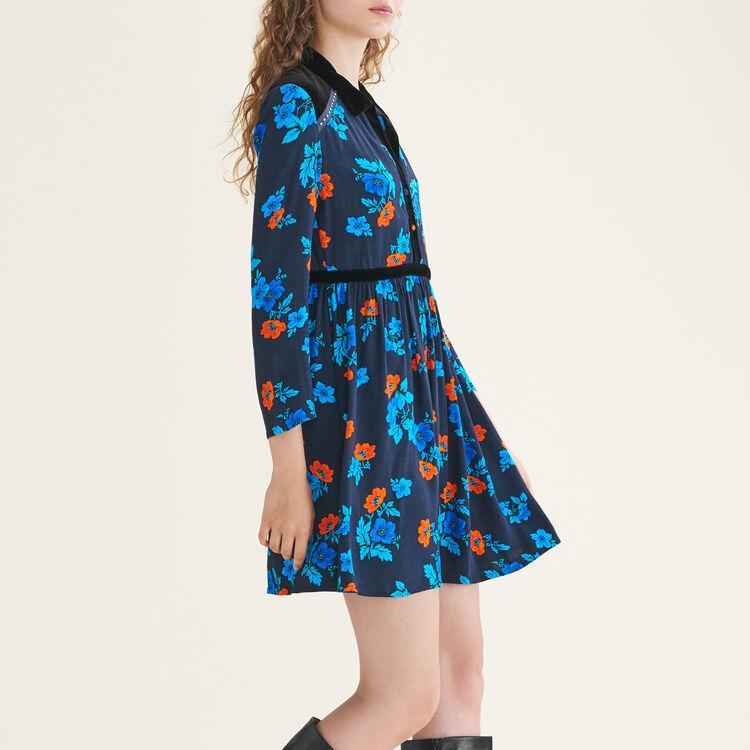Pleated printed dress : Dresses color Print