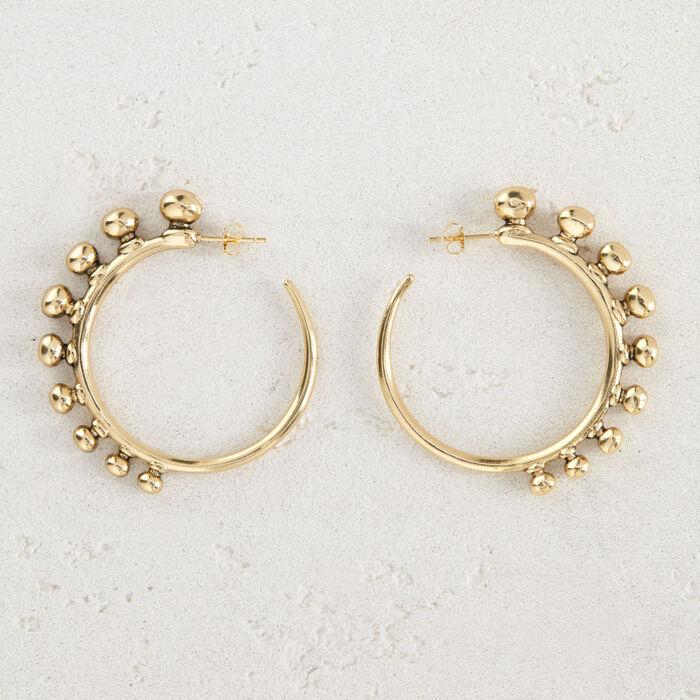 "Hoop earrings ""Arty"" : Jewelry color GOLD"