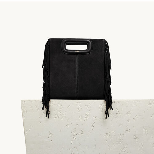 Suede M bag : Handbags & Purses color Black 210