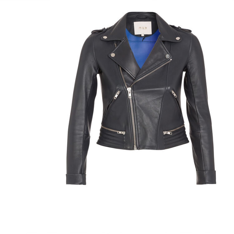 Leather jacket : Features color