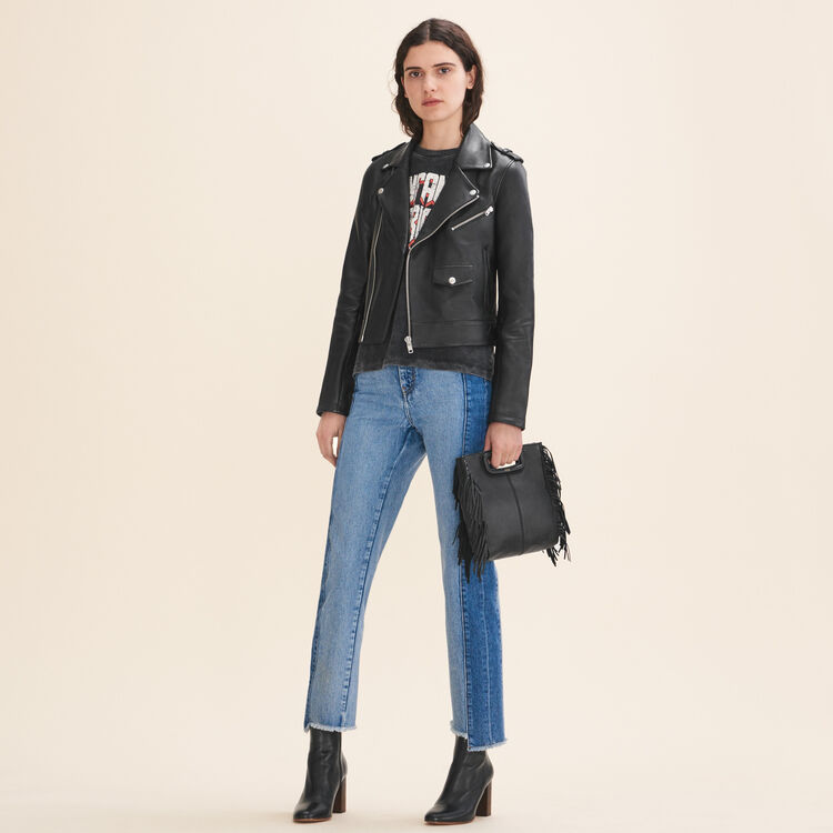 Bonded leather jacket - Coats & Jackets - MAJE