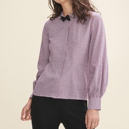 Micro-checked shirt : Tops & T-Shirts color PRINTED
