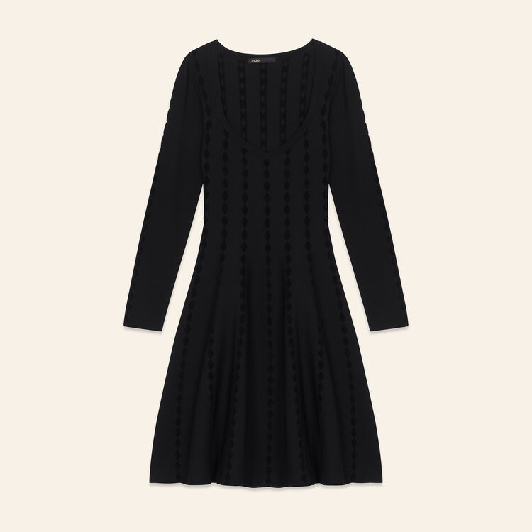 Knitted dress with embroidery : null color