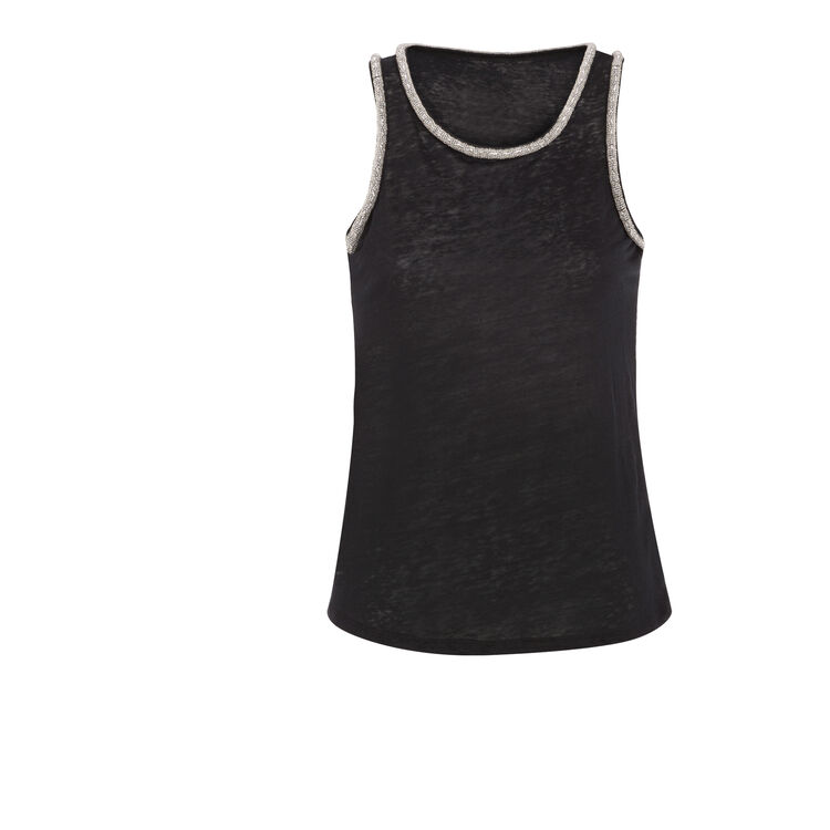 VEST TOP WITH CHAIN NECKLINE : null color