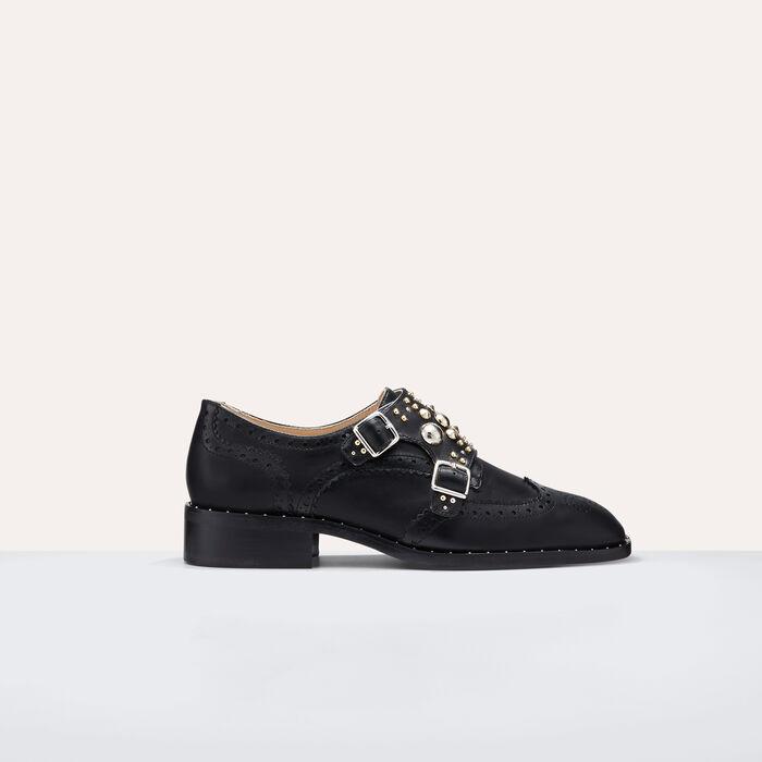 Derbies with studs : Shoes color Black 210