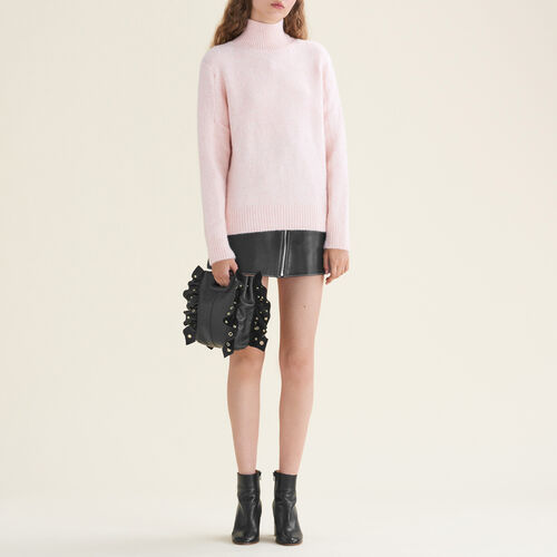 High neck jumper : Sweaters color Ecru
