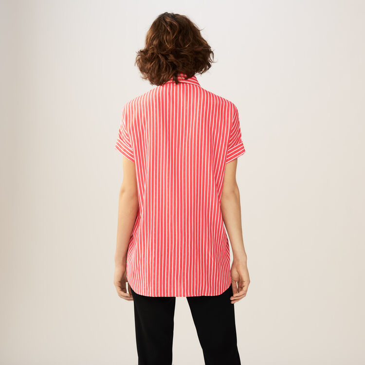 Striped shirt with ascot tie : Tops & T-Shirts color Stripe