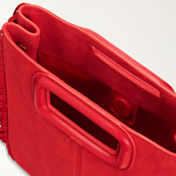 M bag in suede : M Bags color Red