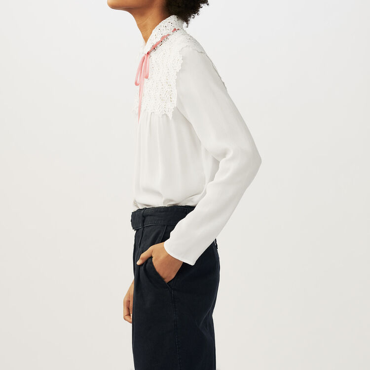 Lace shirt : Tops & Shirts color Ecru