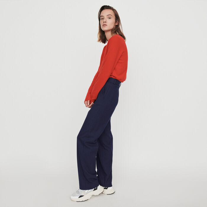 Straight-leg pants with pinstripes : Pants & Jeans color Navy