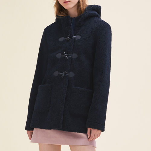 Faux fur duffle coat : Coats & Jackets color Navy