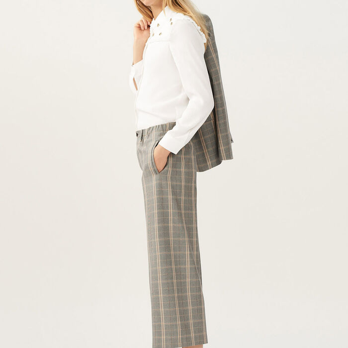 Wide checkered pants : Pants & Jeans color CARREAUX