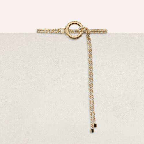 Lurex cord belt : Belts color Multico
