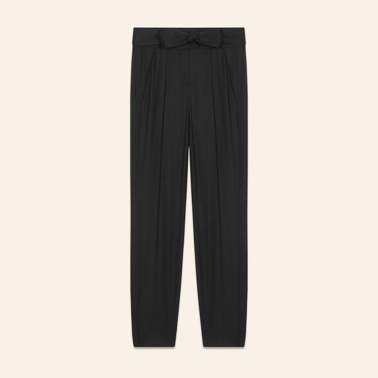 Low-slung belted pants : Pants & Jeans color Black 210