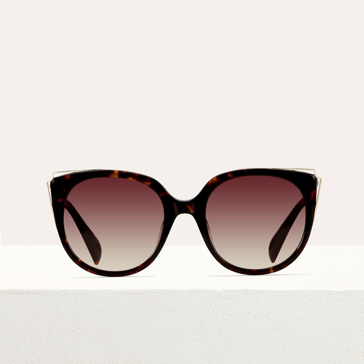 Metal and acetate sunglasses : Sunglasses color ECAILLE