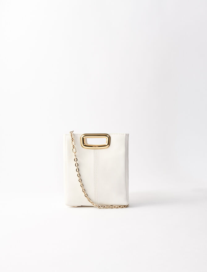 Mini leather and goldtone M Skin bag - M Skin - MAJE