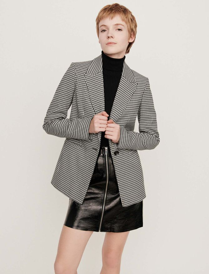 Houndstooth jacket - Coats & Jackets - MAJE