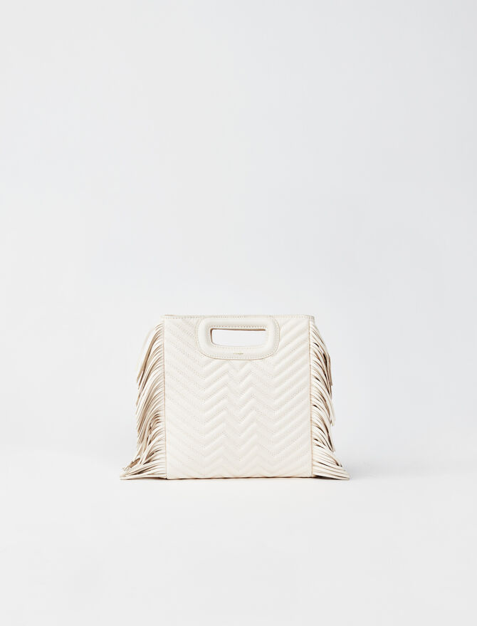 Quilted leather mini M bag with chain -  - MAJE