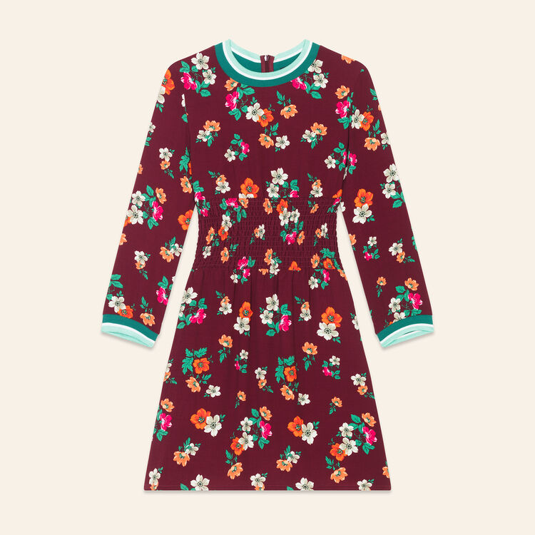 Flowing dress with a retro print : Dresses color Print